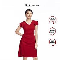 Đầm Dự Tiệc Sang Trọng K&K Fashion KK105-20 Màu Đỏ Dáng Chữ A