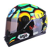 Mũ bảo hiểm Moto Fullface A138 - 06 Siêu Chất _ AGU có kính chắn gió, chống nắng, chông chói_ Nhiều màu