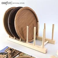Giá để đĩa bằng tre/gỗ tiện lợi (Có thể tháo rời) | ongtre (Vietnam)