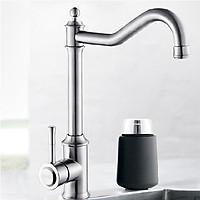 Vòi rửa bát inox sus304 cổ điển Valenza 2 đường nước