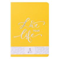 Notebook Bấm Kim A5 Bìa Mỹ Thuật TK 01A - Vàng