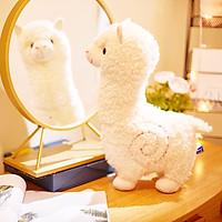 Gấu bông lạc đà alpaca dễ thương 2 màu hồng trắng kích thước từ 26-56cm