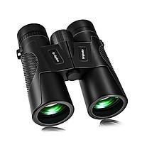 KKmoon 12×42 HD Zoom Binoculars Low Light Level Night Vision Binocular BAK4 Prism Long Distance Telescope with Diopter