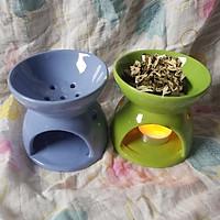Bếp xông đốt bồ kết chanh sả tươi khử khuẩn không khí (Mầu đất ngẫu nhiên) - CTM01 9cm xanh lá