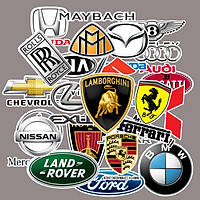 Sticker logo oto , xe hơi set 30 ảnh ép lụa các hãng xe nổi tiếng thế giới