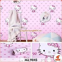 Giấy Dán Tường Decal hình Hello Kitty màu hồng mã 9045