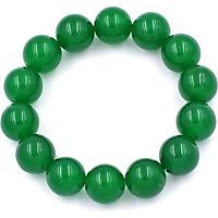 Vòng chuỗi đeo tay đá thạch anh xanh lá 14 ly - Chuỗi hạt đeo tay đá phong thủy