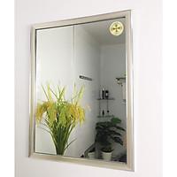 Gương phòng tắm màu trắng bạc Kibath KT 45x60 cm