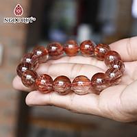 Vòng tay đá thạch anh tóc đỏ đồng trục mệnh 13.7mm hỏa, thổ - Ngọc Quý Gemstones