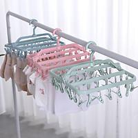 Móc chùm nhựa cao cấp gấp gọn 32 Kẹp phơi quần áo, khăn tất - F3