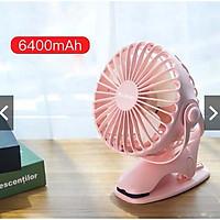 Quạt sạc mini xoay góc 720 độ, đế kẹp đa năng hoặc đặt bàn, với 4 nấc điều chỉnh gió  YOOBAO F04 6400MAH Hàng Chính Hãng