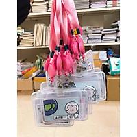 Bộ dây đeo thẻ 2 mặt trong mặt cười- thẻ đeo học sinh, sinh viên