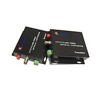 Bộ chuyển đổi video sang quang 1 kênh GNETCOM HL-1V1D-20T/R-1080P (2 thiết bị,2 adapter,cổng điều khiển) - Hàng Chính Hãng