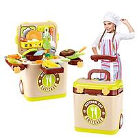 Bộ đồ chơi nhà bếp KAVY L666-36 có vali đựng, kéo tiện lợi có âm thanh và ánh sáng nâng cao hiểu biết và giao tiếp của bé