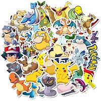 Sticker 50 miếng hình dán Pokemon - hàng nhập khẩu