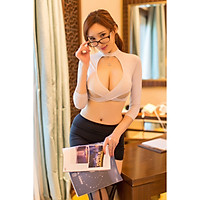New style sexy lingerie European and beautiful adult sexy secretary uniform temptation role-playing suit (Q11)