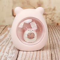 Đèn ngủ Chuột Hamster yêu đồ ăn ngồi trong buồng kính (Giao Mẫu Ngẫu Nhiên)