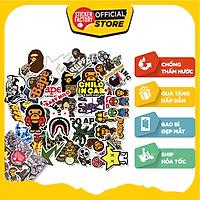 Bape - Set 30 sticker hình dán