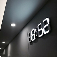 Đồng hồ LED 3D Smart Clock treo tường, để bàn. Đồng hồ kĩ thuật số, Đồng hồ đèn led thông minh RET021