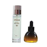 Combo 2 món : Serum Gold 24k chống nhăn ngăn ngừa lão hóa + Serum chống nắng dưỡng trắng da Apenas