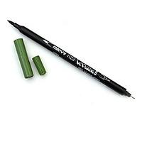 Bút lông hai đầu màu nước Marvy LePlume II 1122 - Brush/ Extra fine tip - Olive Green (15)