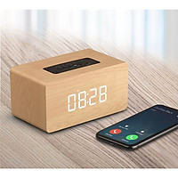 Loa du lịch kết nối Bluetooth cao cấp có đồng hồ báo thức - Hàng nhập khẩu