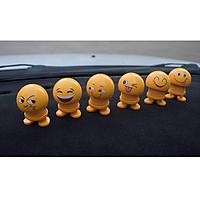 Set 6 thú nhún Emoji trang trí