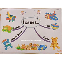 Mindmap luyện nói Tiếng Anh lớp 1 Bộ Giáo Dục Size A3 Flashcards ép plastics siêu bền giáo cụ đồ dùng dạy học