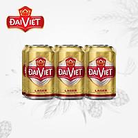 1 Lốc 6 lon Bia Đại Việt Lager 330ml