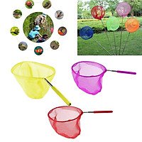 Set of 3 Kid's Telescopic Butterfly Fishing Net Extendable 34 inch Colorful
