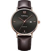 Đồng hồ nam dây da chính hãng Thụy Sĩ TOPHILL TA031G.PC3057