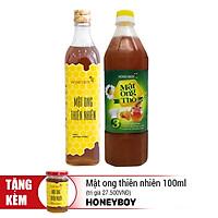 Combo Thực Phẩm Chức Năng Mật Ong Thiên Nhiên Honeyboy (500ml) Và Mật Ong Thô Honeyboy (1L) - Tặng Mật Ong Thiên Nhiên Honeyboy (100ml)