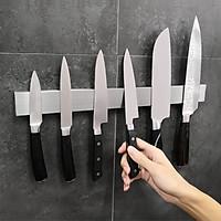 Thanh nam châm dính dao kéo, dụng cụ để dao kéo, thanh nam châm inox cài dao kéo, thanh nam châm dính tường, nam châm hít từ tính