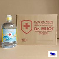 1 thùng 12 chai Nước súc miệng Dr. Muối hương Gừng ấm áp (500ml)