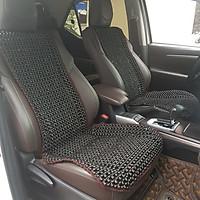 Đệm hạt gỗ tựa lưng massage lót ghế ô tô 100% gỗ Mun tự nhiên, đan kết diềm mép cao cấp -  Kích thước sản phẩm: (D X R): 1,48 X  0,48 (M) - Trọng lượng: 2Kg