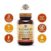 NHẬP KHẨU USA CHÍNH HÃNG - Viên uống tăng cường sức khỏe, giảm căng thẳng Solgar® B-Complex và Vitamin C Stress Formula