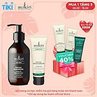 Bộ đôi làm sạch & dưỡng ẩm da cho nam Sukin (Sữa rửa mặt For Men Facial Cleanser 225ml + Kem Dưỡng Ẩm Facial Moisturiser 50ml)