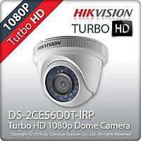 Camera HD-TVI Dome hồng ngoại 2.0 Megapixel HIKVISION DS-2CE56D0T-IRP(C)- Hàng chính hãng