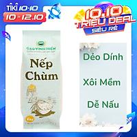 Gạo Nếp Chùm Vinh Hiển túi 1Kg - Nếp Sạch 3 Không - Gạo nếp dẻo, thơm xôi mới thuộc thương hiệu Gạo Vinh Hiển