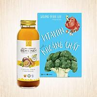 Sản phẩm cho sức khỏe: Mật ong chanh dây Behonex 420g + Sách Vitamin & khoáng chất