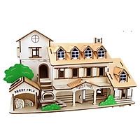 Đồ chơi lắp ráp gỗ 3D Mô hình Nhà gỗ Yili Holiday Villa Laser LC-GP269