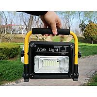 Đèn công trình dùng pin sạc công suất 50W - TẶNG 01 ĐÈN PIN BÓP TAY MINI