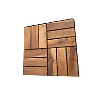 [Gỗ dày chuẩn 12mm] 1 Tấm ván sàn gỗ vỉ nhựa lót ban công sân vườn - Loại 12 nan - Vỉ gỗ lót sàn - Trang trí nội thất