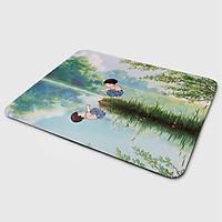 Miếng lót chuột mẫu Ghibli Bên Hồ (20x24 cm) - Hàng Chính Hãng