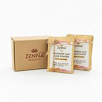 Mặt nạ bùn khoáng núi lửa kiểm soát dầu và mụn, thanh lọc độc tố, tái tạo da ZENNA Bentonite Clay 60g (10 túi/hộp) - Set du lịch - Phù hợp cho mọi loại da đặc biệt da dầu và mụn