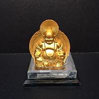Tượng Phật Di Lạc - xe hơi - đế kiếng tặng bộ tượng tứ không
