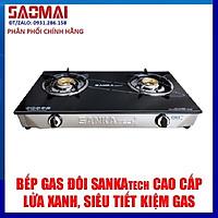 Bếp gas dương đôi SANKA tech SKT-521B mặt kính cường lực - Hàng chính hãng