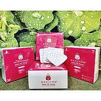 Bông Tẩy Trang Hạt Massage Merilynn 120 Miếng/ Hộp 6x6 ( Bông Bạch Tuyết )
