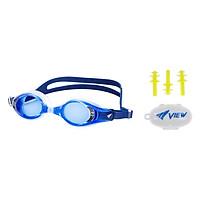 Bộ Kính Bơi Cận View V510 (Xanh  Dương Đậm) Và Nút Bơi Nhét Tai EP405 - Hàng Chính Hãng