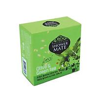 Xà bông tắm dưỡng da cao cấp giúp da mịn màng và làm sạch da SHOWERMATE Olive & Green Tea 100g - Hàn Quốc Chính Hãng